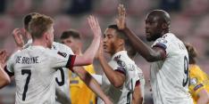Goals de Bruyne en Wilson hoogtepunten bij zakelijke zege België
