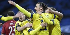 Assist Ibrahimovic brengt Zweden koppositie na stunt Van 't Schip