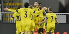 Ibrahimovic weer belangrijk bij tweede zege koploper Zweden