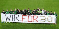 Duitsland maakt met spandoek nieuw statement: 'Wir für 30'