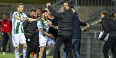 Tienkoppig Groningen wint na hectische slotfase van VVV
