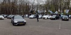 Video: De Graafschap-fans geven selectie steuntje in de rug