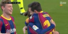 Video: Barça op 1-0 na heerlijke combinatie Messi en Griezmann