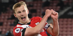 Southampton pakt met tien man knap punt tegen Foxes