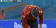 Video: gigantische misser Morata kost Spanje de voorsprong