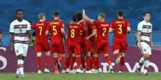 Thorgan Hazard schiet België op fraaie wijze naar kwartfinales
