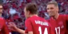 Damsgaard krijgt met fantastische vrije trap Wembley stil