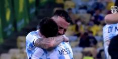 Prachtige beelden: Messi emotioneel na Copa-winst