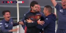 Oeps! Belgische trainer viert winst per ongeluk met vierde man