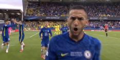 Daar is-ie: Hakim Ziyech opent score in Europese Super Cup