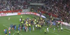 Compleet mis bij OGC Nice - Marseille: supporters komen veld op