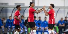 Jong PSV boekt benauwde derbyzege, late zege AZ