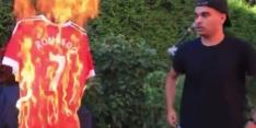 Fan zet zich historisch voor aap door Ronaldo-shirt te verbranden