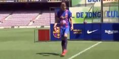 Video: Luuk de Jong houdt hoog bij FC Barcelona-presenatie