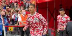 Publiek op Old Trafford reageert uitzinnig bij zien Ronaldo