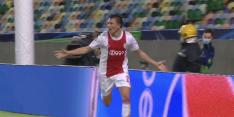 Berghuis maakt na prachtige aanval eerste Ajax-doelpunt