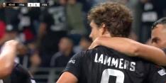 Lammers maakt zijn eerste doelpunt voor Eintracht Frankfurt