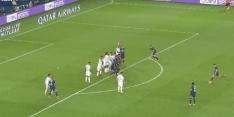 Video: Messi met heerlijke vrije trap dicht bij eerste PSG-goal