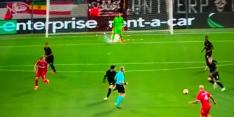 Eintracht Frankfurt-doelman in Antwerpen bekogeld met vuurwerk