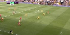 Salah doet monden openvallen met assist met buitenkant links