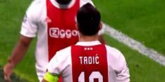 Knullige eigen goal: Ajax snel op voorsprong tegen Dortmund