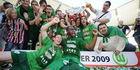 Wolfsburg pakt eerste titel, HSV op valreep Europa in