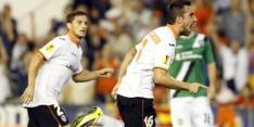 Valencia pijnlijk ten onder tegen hekkensluiter