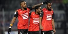 Stade Rennes vanaf de penaltystip langs Reims