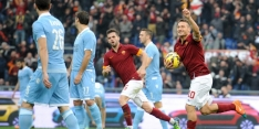 Geniale Totti bezorgt Roma punt in spectaculaire derby