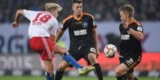 HSV zonder Van der Vaart gelijk tegen Karlsruher SC