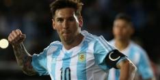 Argentinië met jubilaris Messi als groepswinnaar verder