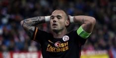 Galatasaray ondanks misser Sneijder naar halve finale