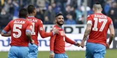 Napoli dendert maar door in Serie A, Inter krijgt tik