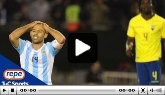 Video: Argentinië verliest in eigen huis van Ecuador