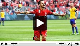 Video: Giovinco maakt fraai doelpunt voor Toronto FC