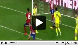 Video: Ñíguez scoort achter standbeen voor Atlético