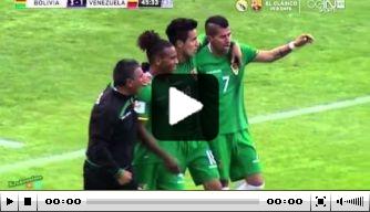Video: Bolivia verslaat Venezuela in doelpuntrijk duel