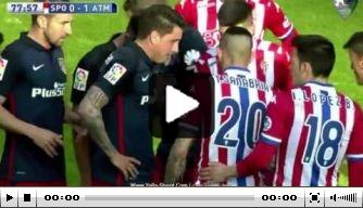 Video: Atlético laat zich verrassen door laagvlieger Gijón