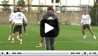 Video: Marcelo en Casemiro dollen tijdens Real-training