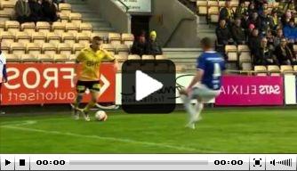 Video: Lillestrom-speler Ofkir geeft panna