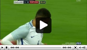 Video: Smalling kopt Engeland langs Portugal