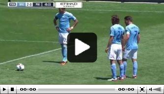 Video: Pirlo maakt eerste goal voor New York City