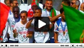 Video: Nani en Renato Sanches beatboxen tijdens huldiging