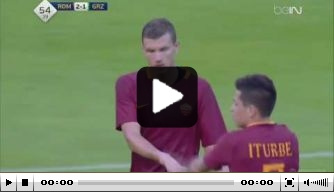 Video: majestueuze assist van Roma-boegbeeld Totti op Dzeko