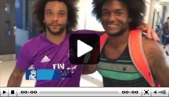 Video: Real-verdediger Marcelo ontmoet dubbelganger