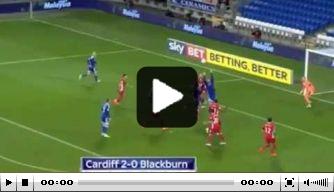 Video: Blackburn-speler maakt twee eigen goals