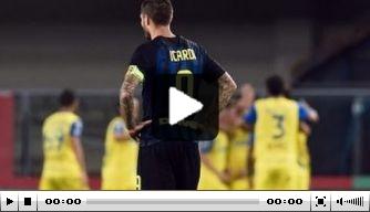 Video: De Boer met Inter onderuit bij Chievo