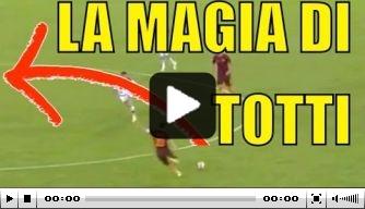 Video: Francesco Totti levert geniale assist op Edin Dzeko
