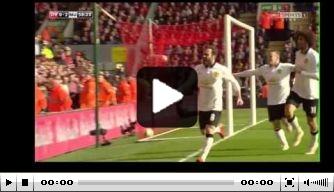Video: Mata treft met omhaal doel op Anfield Road