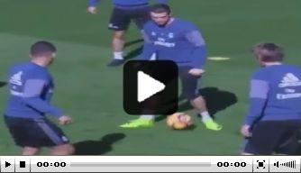 Video: Casemiro poort Ronaldo op het trainingsveld